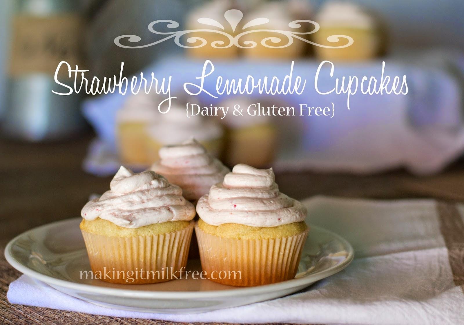 #glutenfree #dairyfree #cupcakes #strawberry #lemonade