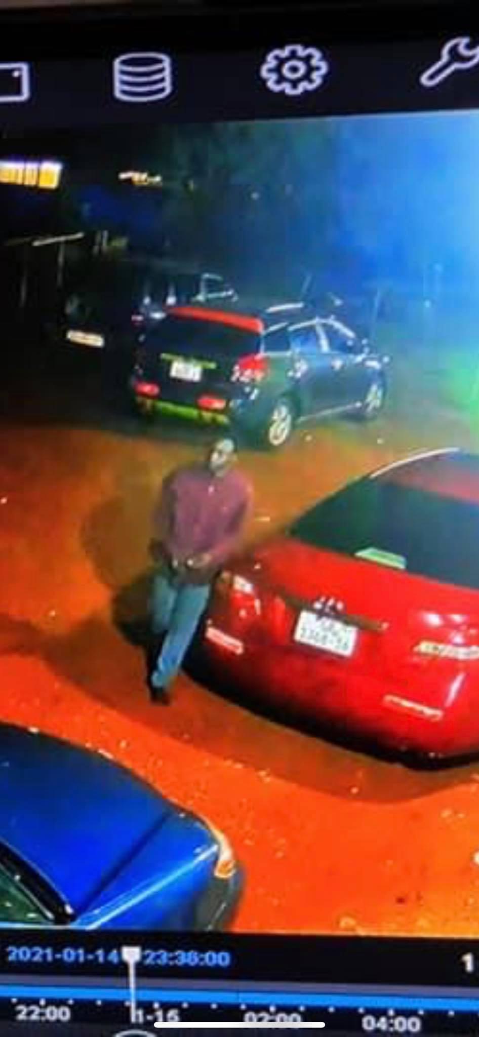 Journalist Abdul Hayi Moomen shares CCTV footage of the man that broke into his car
