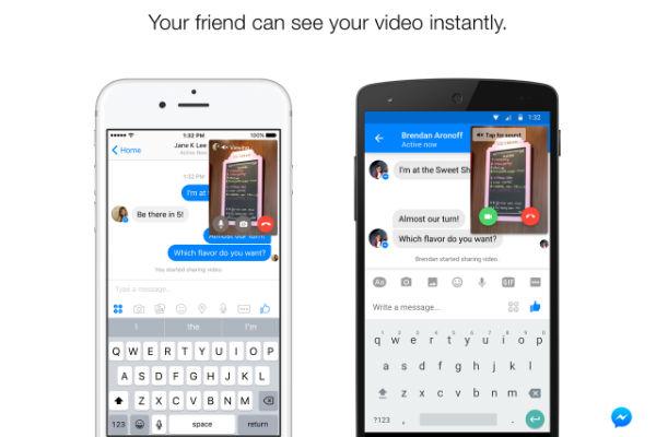 Update Facebook Messenger Hadirkan Fitur Instan Video