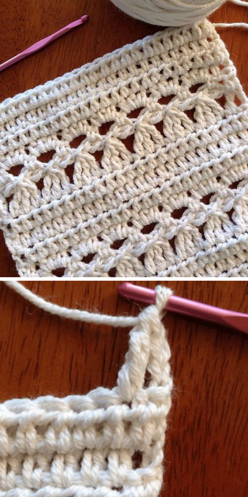How to crochet Easy Pensy Stitch - Free Pattern
