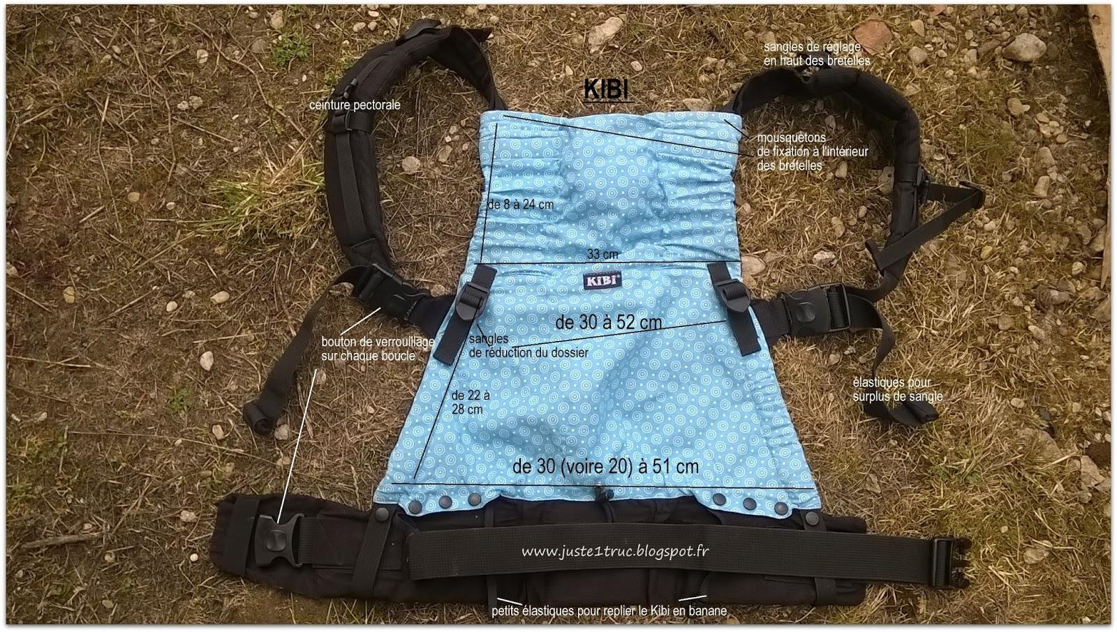 KIBI préformé babywearing babycarrier test avis portage dimensions  caractéristiques taille réglages bébé bambin 08ff25e763e