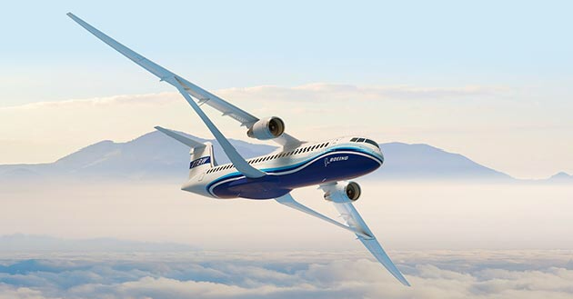 Boeing unveil improved Truss Wing airliner concept