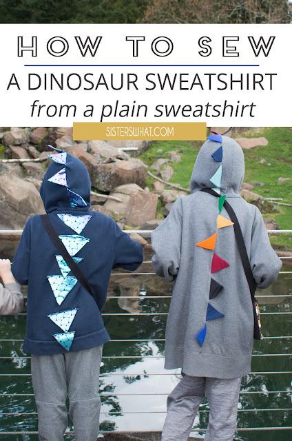 how to sew a dinosaur sweatshirt