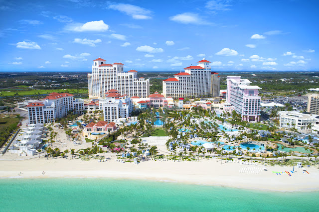 White Sandy Beach and Gorgeous Baha Mar Resort Complex