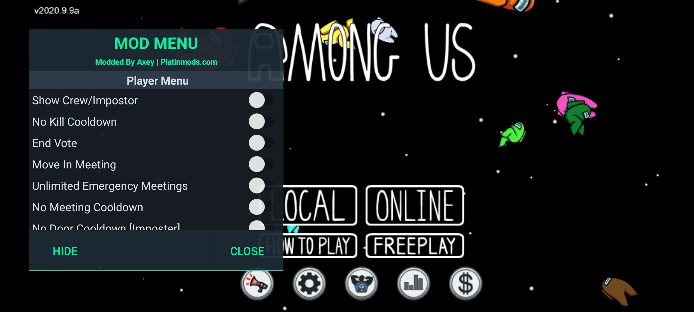 Among Us: Mod menu for online on android