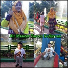 Menikmati Liburan Tahun Baru di Taman Air Mancur Sudirman Medan
