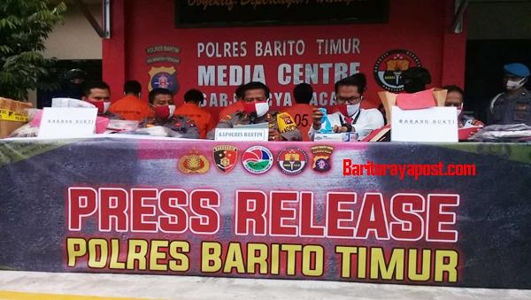 Press Release Polres Bartim, Pengungkapan Kasus Curat dan Pencabulan Anak Dibawah Umur
