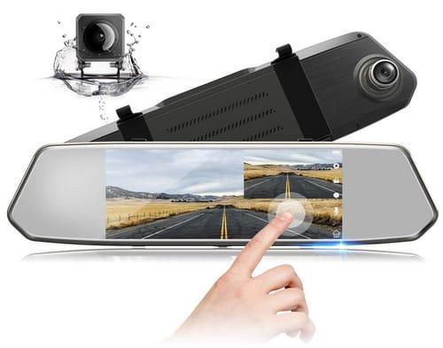 TOGUARDGO CE35A IPS Touch Screen Mirror Dash Cam