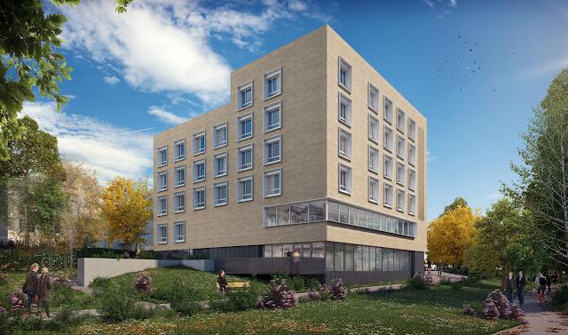 Perspective 3D de la maison de santé coté Seine
