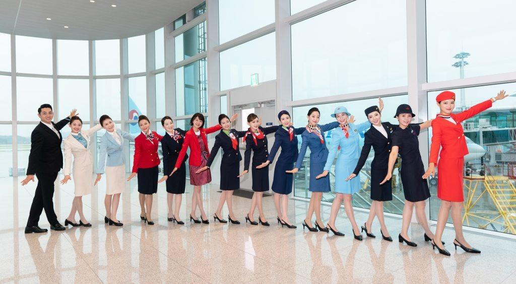 대한항공 50주년 기념 역대 유니폼 비행 행사