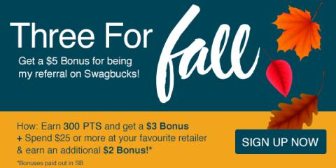 Image: All throughout the month of November you can earn big bonuses at Swagbucks, the rewards site where you earn points (called SB) for things you're probably doing online already, like searching, watching videos, discovering deals, and taking surveys