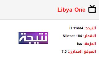 تردد قناة ليبيا وان الأولي Libya One الجديد 2018 على النايل سات