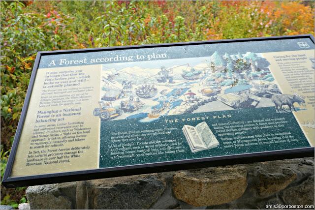Carteles Informativos en el Kancamagus Scenic Byway en las White Mountains