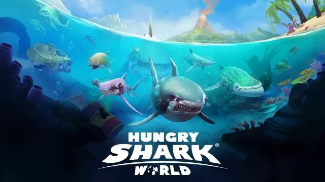 تحميل لعبة hungry shark world مهكرة للاندرويد من ميديا فاير - مستعجل