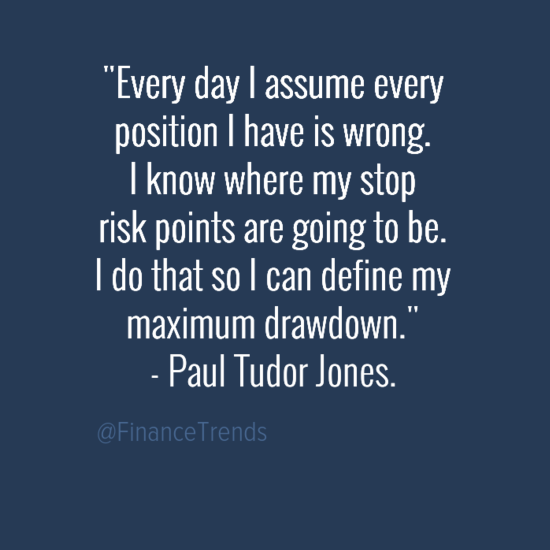 Paul Tudor Jones trading risk management wrong assume quote