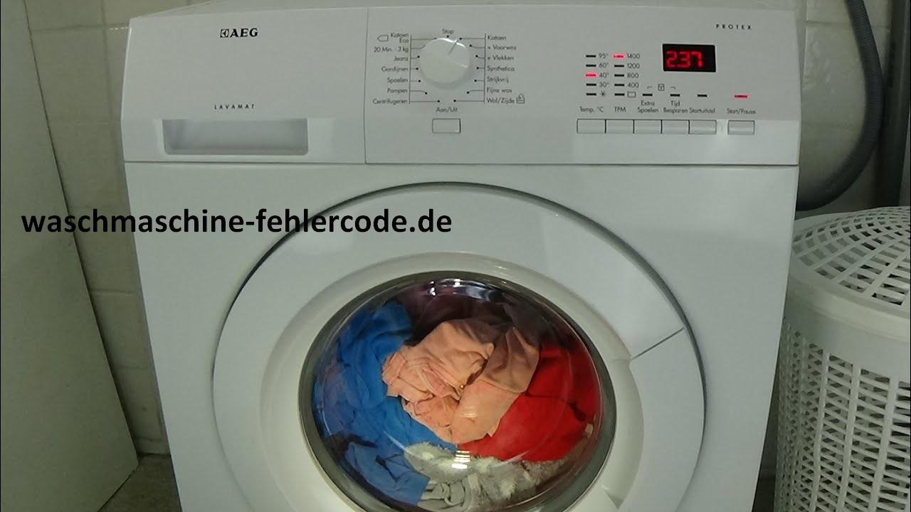 AEG Waschmaschine Fehlercode EF0 - Gelöst