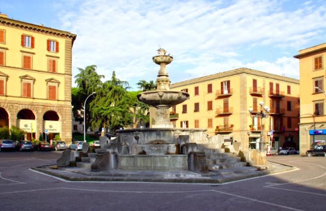 viterbo medieval town in lazio, italy