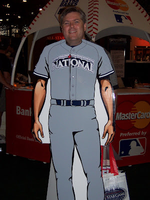 Rich, posing as a NL All Star
