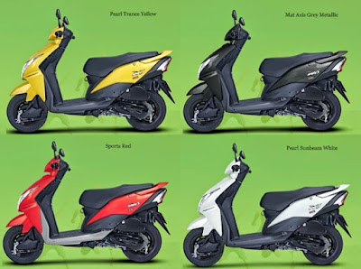 New 2016 Honda Dio four colours option