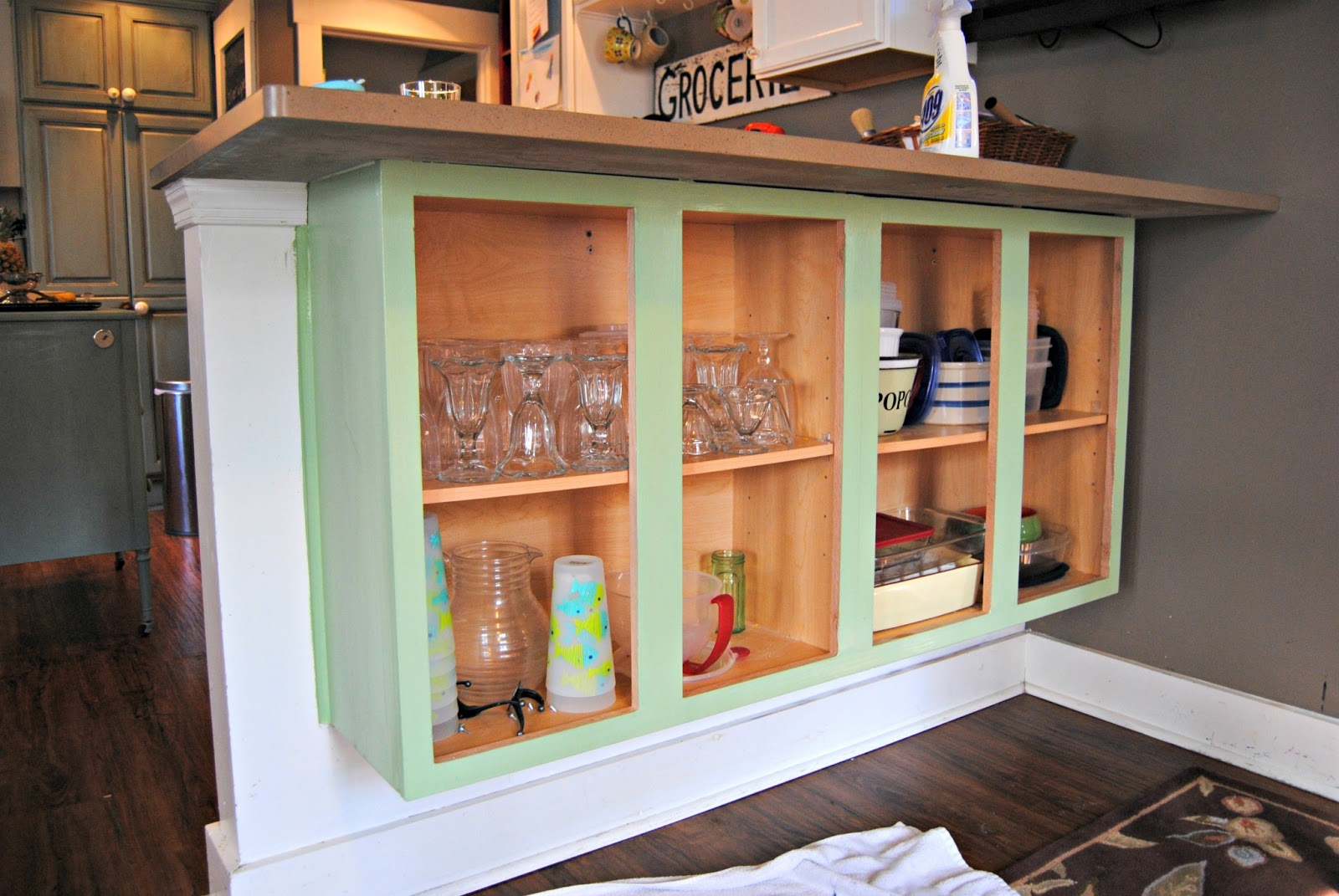 Adding Shelves To Kitchen Cabinets Best Flooring Glass Doors My The