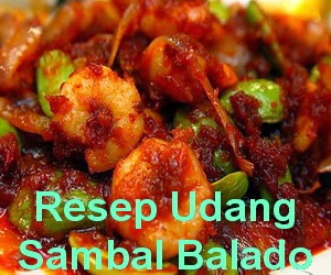 Resep Masakan Udang Sambal Balado