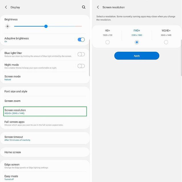 Cara Menghemat Baterai Pada Samsung Galaxy S10e, S10 dan S10 + 3