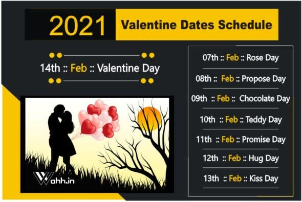 2021 Valentine Dates Schedule Full List