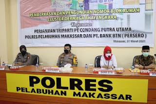 Cluster Perumahan Dermaga Bhayangkara, Personil Polres Pelabuhan Makassar lakukan Pemberkasan dan Undi Blok