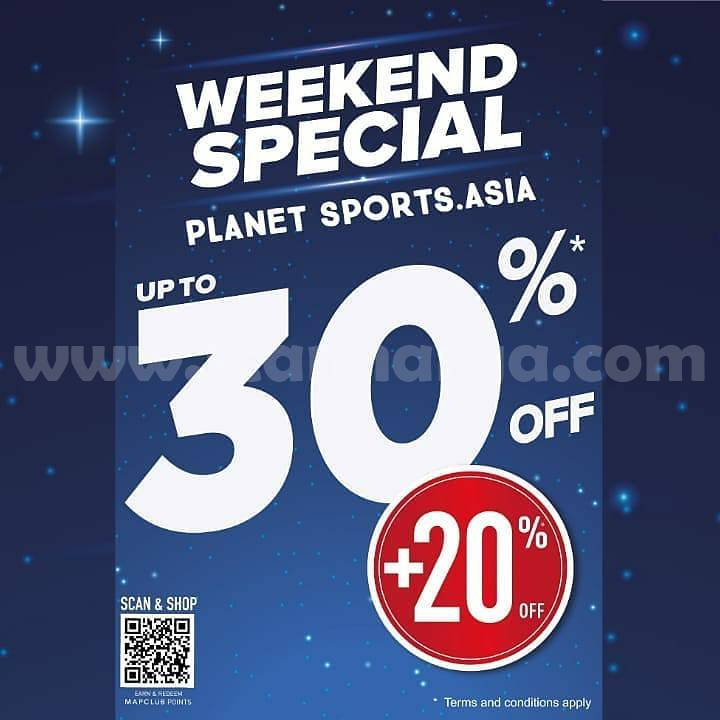 Promo Planet Sports Weekend Special up to 30% + 20% Off