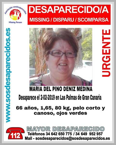 Mujer desaparecida en Las Palmas  María del Pino Deniz Medina