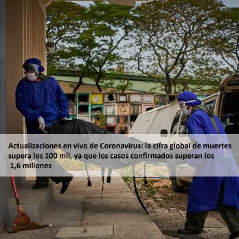 Actualizaciones en vivo de Coronavirus: la cifra global de muertes supera los 100 mil, ya que los casos confirmados superan los 1,6 millones