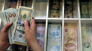 سعر صرف الليرة التركية يوم الخميس مقابل العملات الرئيسية 30/4/2020