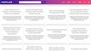 Premium Blogger AMP Template - Kompi Ajaib AMP HTML V3
