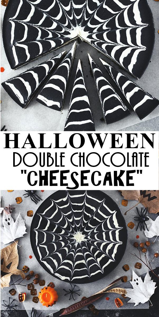 "DOUBLE CHOCOLATE HALLOWEEN ""CHEESECAKE"" #halloweenrecipes"