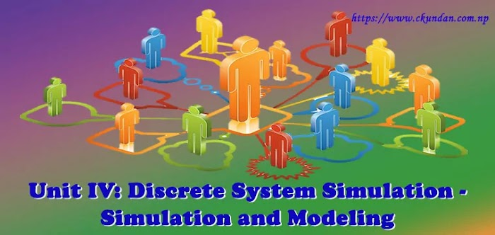 Unit IV: Discrete System Simulation - Simulation and Modeling