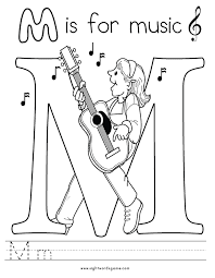 Letter M Coloring Page 8