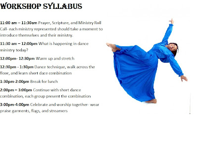 Praise Dance Workshop syllabus copyright 2012 Katina Davenport all rights reserved