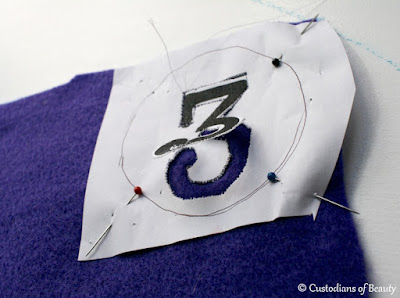 Birthday Crown: Felt Number Patches | by CustodiansofBeauty.blogspot.com