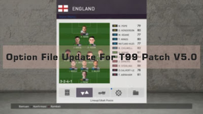 New Option File Update For T99 Patch V5.0
