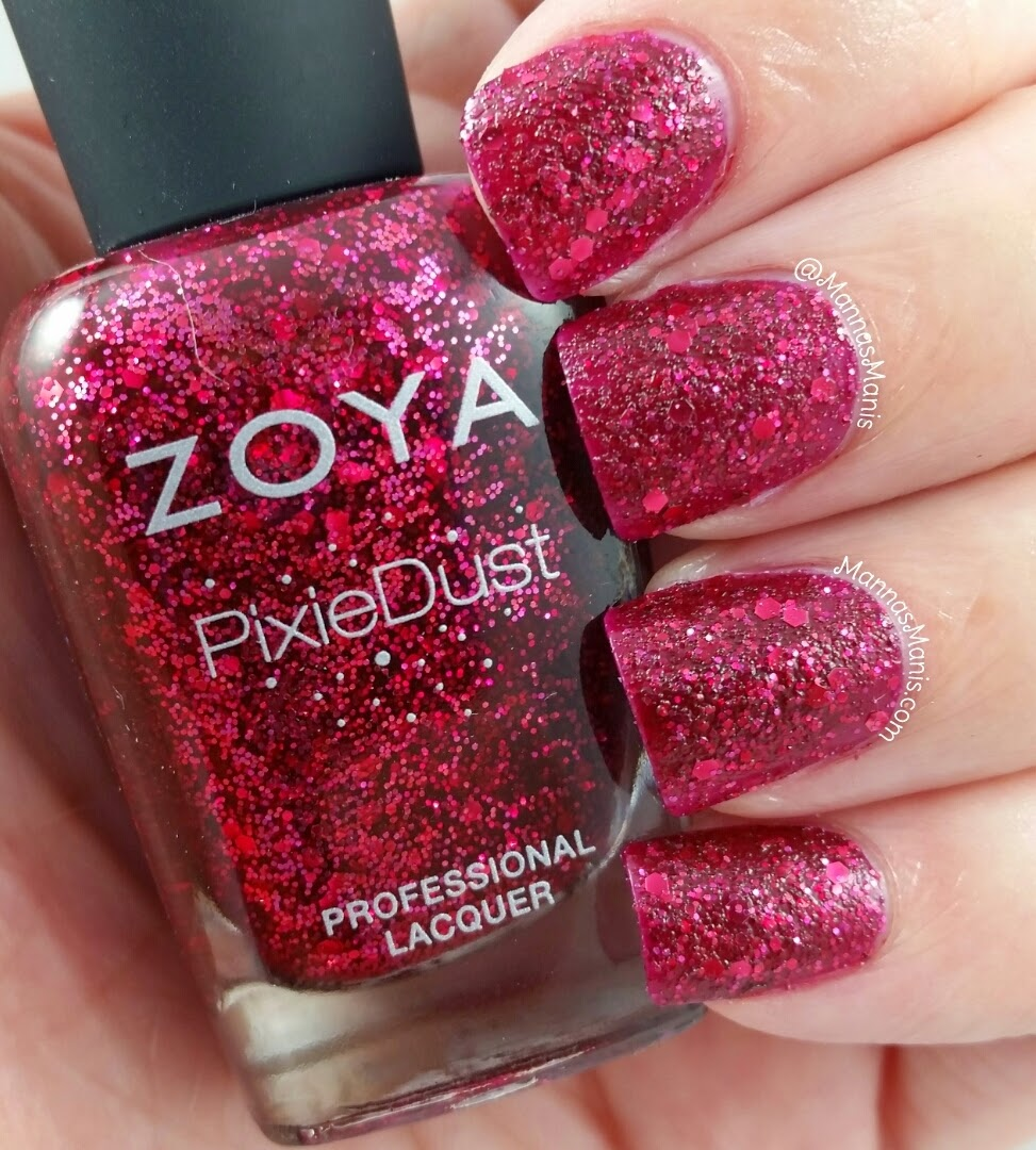 zoya arianna, a red wine colored textured nail polish