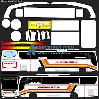 Livery bus jbhd 2 gunung mulia