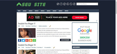 Modelo de Template para seu site ou blog Gratis