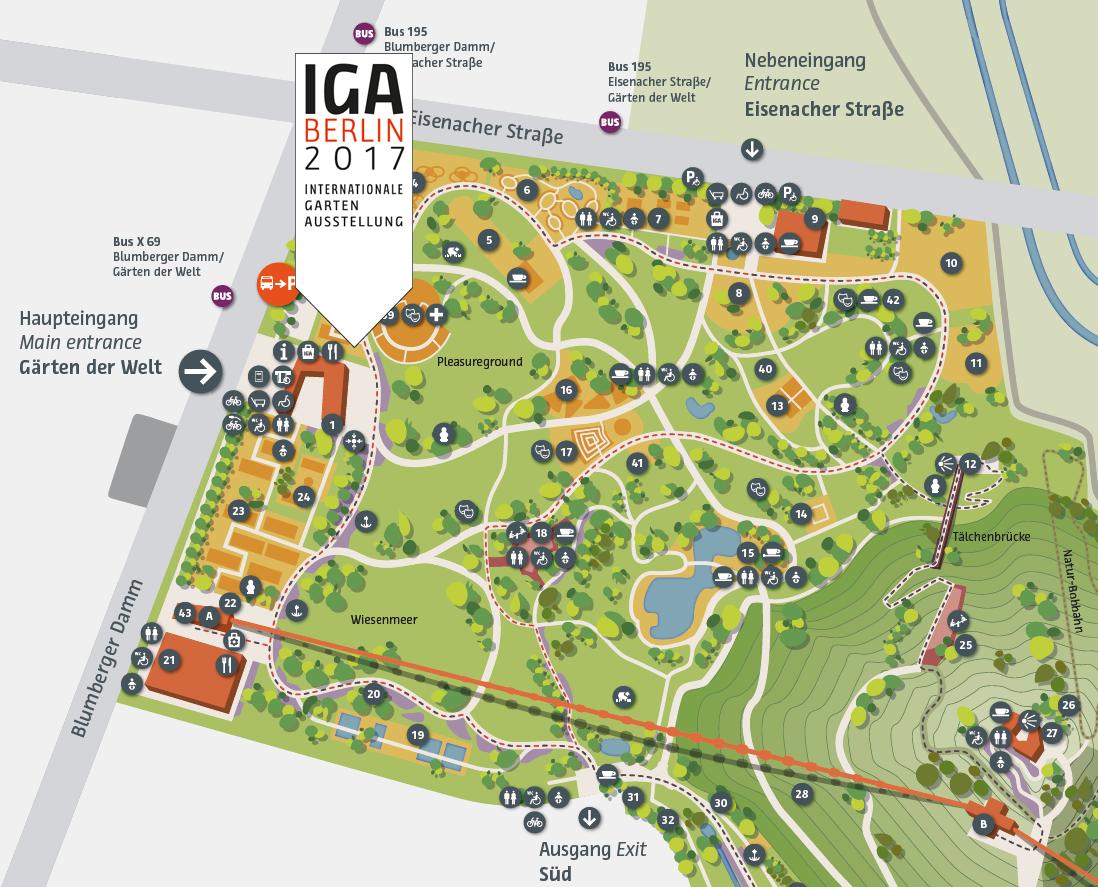 Garten und landschaftsbau plan  IGA 2017 Berlin