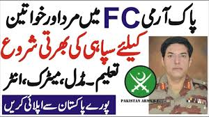 Join Pakistan Army fc as Soldier , Middle Matric Jobs