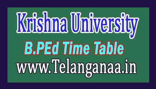 Krishna University B.PEd Examination Table Table