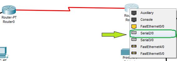 Koneksikan 2 Router tersebut menggunakan Serial (boleh DCE/DTE)