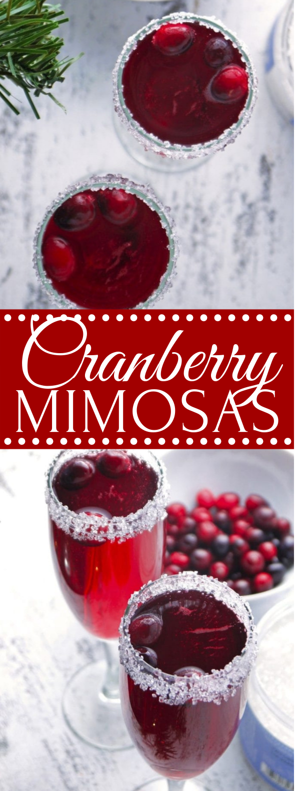 Cranberry Mimosa #drinks #mixeddrink