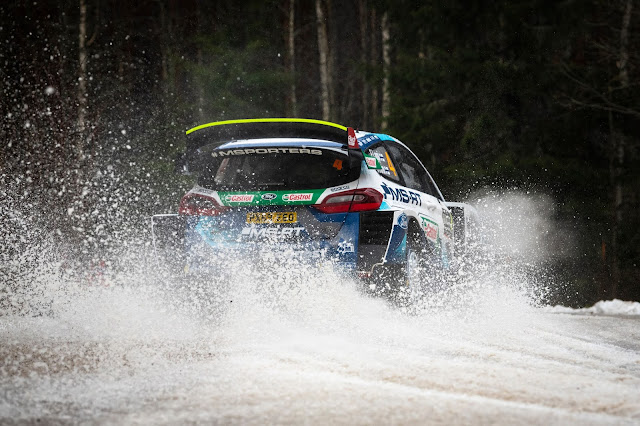 WRC Rally Sweden Fiesta Rally Car