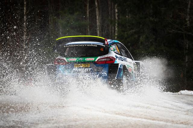 WRC Rally Sweden Fiesta Rally Car