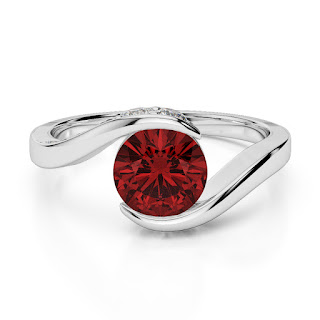Garnet Engagement Ring uk